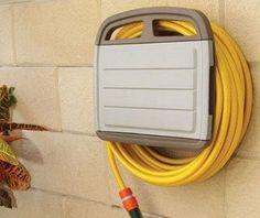 Tec Hit 390245 Support mural pour tuyau d'arrosage avec Armoire Rangement pour tube de 45 m: Support pour 45 mètres de tube Avec armoire de…