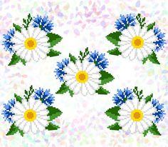 Cross Stitch Patterns, Cross Stitch Embroidery, Margaritas, Hand Embroidery, Roses, Punto De Cruz, Dots, Napkins, Embroidery