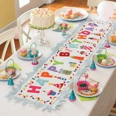 Genial Tabletop   Birthday Table Runner   I Can Totally Make This Myself.