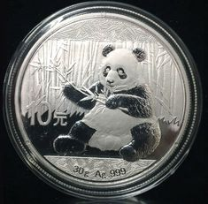 2017 China 10 Yuan 30g .999 Silver Panda In Original Hard Plastic Case