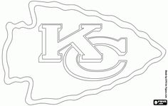 Free Kansas City Chiefs Logo American Football Team In The West Division AFC Missouri Coloring And Printable Page