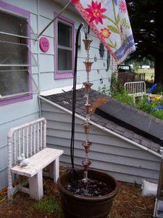 MaryJanesFarm Farmgirl Connection - Simple Rain Chain Fountain--you must make one!