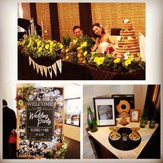 ウェルカムスペース Wedding Welcome, Diy And Crafts, Reception, Table Decorations, Party, Wedding Ideas, Colour, Weddings, Space