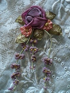 silk #ribbon #work applique