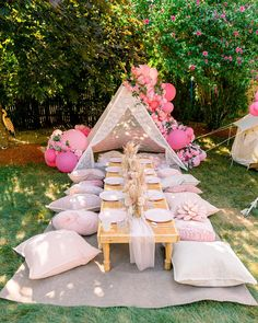 Kids Picnic Parties, Backyard Birthday Parties, Picnic Birthday, Garden Birthday, Fairy Birthday, Sleepover Party, Birthday Party Decorations, Kids Garden Parties, Garden Party Themes