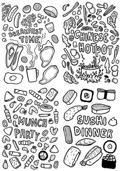 breakfast time coloring pages - photo#43