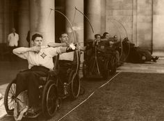 Ook in de jaren 20 was boogschieten al erg geschikt voor gehandicapten.