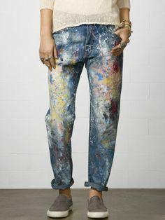 Paint+Splatter+Boyfriend+Jean