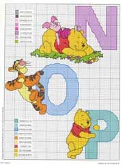 Schema punto croce Winnie N-o-p