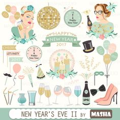 Check out this item in my Etsy shop https://www.etsy.com/listing/490574815/new-years-eve-clipart-new-years-eve-ii