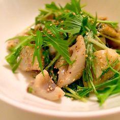 レシピの分量はお好みで。 - 157件のもぐもぐ - 蓮根と水菜のサラダ by yuminn7