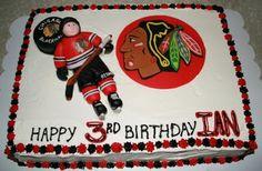 Tessa's Cake Corner: Chicago Blackhawks hockey cake