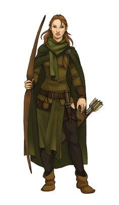 Elven Ranger  //  by *Werdandi at deviantart