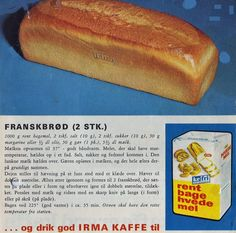 Franskbrød 2 stk. Bread Baking, Bread Food, Danish Food, Eat Smart, Dinner Is Served, Eat Right, Sweet Bread, Hot Dog Buns, Bread Recipes