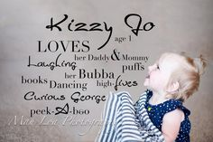 Kizzy's bday announcements Mau Loa Photography