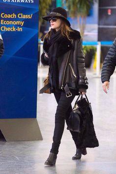 Dakota Johnson at JFK Airport