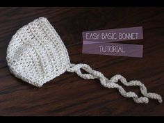 How to - DIY - #Crochet Newborn Baby Bonnet - Easy crochet #TUTORIAL #82 - YouTube