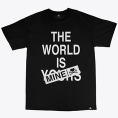 the world is mine tee PURPLE AND CHROME