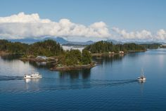 Sitka, Alaska...view from front of ship of this beautiful Russian settlement