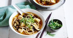 It's the season for warming bowls of soup. Change it up a little with this 15-minute miso noodle soup.