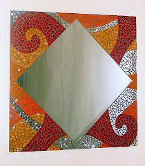 espejos en mosaico - Buscar con Google Mosaic Patterns, Mosaic Ideas, Mirror Mosaic, Mirror Work, Wood Boxes, Painting On Wood, Quilts, Painted Wood, Ideas Para