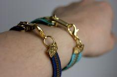 If I were a skirt: DIY: Pulsera cremallera (Zipper bracelet)