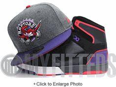 TORONTO RAPTORS Gray Melton Wool Concord Red New Era Hat
