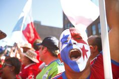 Fans of Panama cheer on their team before the World Cup qualifier match between the U.S. and Panama. Photo by John Lok / The Seattle Times