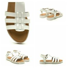 "🎉HP 12/31 Coastal Cutie Faux Leather Sandals🎉💕 Look cute and walk comfortably in these spunky shoes. Open-toe sandals feature a lightly distressed vegan leather upper with triple straps that are woven through a wide center panel. Finished with an adjustable buckled ankle strap, a lightly padded footbed, and a rubberized lug sole platform.  Platform height: 0.75"" Man made materials Shoes Sandals"