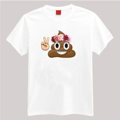 Your favorite emoji with a flower crown. Description: •5.3-ounce, 100% cotton (preshrunk) •Double-needle sleeves and hem •Taped neck and shoulders