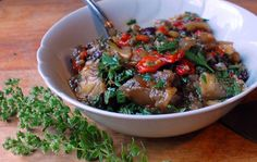 Roasted Pepper & Eggplant Summer Salad