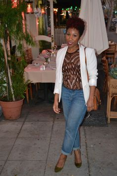 Vintage Beaded Top & SJP Collection Shoes | Curlz And The City