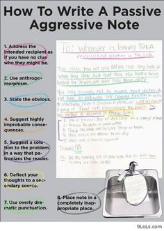 Funny pictures about How to write passive-aggressive notes. Oh, and cool pics about How to write passive-aggressive notes. Also, How to write passive-aggressive notes. Behind Blue Eyes, Funny Commercials, Monday Humor, Look At You, I Smile, Just In Case, I Laughed, Laughter, Haha