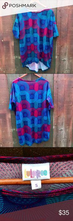 LuLaRoe Irma kaleidoscope print top Colorful kaleidoscope print. No trades. 96% spun polyester, 4% spandex. LuLaRoe Tops Tees - Short Sleeve