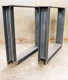 Steel Table Legs (set of 2) U shape made in Los Angeles
