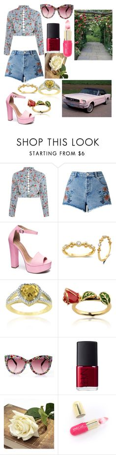 """""""florals"""" by batsnspiderz ❤ liked on Polyvore featuring Topshop, Miss Selfridge, Chinese Laundry, Glitzy Rocks, Disney, NARS Cosmetics and Winky Lux"""