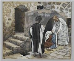The Healing of Peter's Mother-In-Law from 'The Life of Our Lord Jesus Christ' by James Jacques Joseph Tissot Life Of Jesus Christ, Jesus Lives, Catholic Art, Religious Art, Brooklyn, Lucas 8, Religion, Jesus Heals, Biblical Art