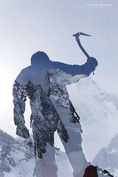 """L'alpiniste""  http://chloeesprit.com   Gallery ""L'Homme et la Nature - Man and Nature"""