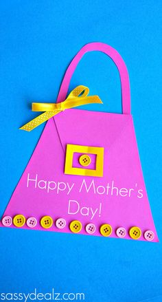 Purse #MothersDay Card for Kids to Make (repinned by Super Simple Songs) #preschool #kidscrafts