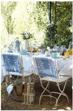 Tablescape ● Alfresco Dining ● french country