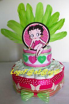 Betty Boop diaper cake - torta di pannolini Betty Boop