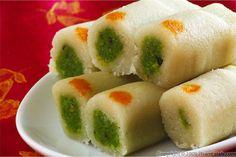 'Kaju-Pista Rolls': Indian Cashew and Pistachio Sweet Roll