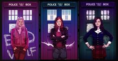 All Doctor Who, Doctor Who Fan Art, Doctor Who Companions, Tardis Blue, Clara Oswald, Amy Pond, British Boys, Rose Tyler, Jenna Coleman