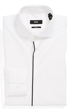BOSS HUGO BOSS 'Jamison' Slim Fit Dress Shirt available at #Nordstrom