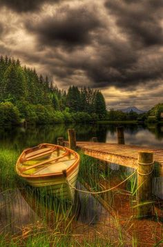 Challenge yourself with this Loch Ard Jetty. Trossachs National Park, Scotland jigsaw puzzle for free. 217 others took a break from the world and solved it. Beautiful World, Beautiful Places, Beautiful Pictures, Beautiful Sky, Hdr Photography, Landscape Photography, Photos Voyages, All Nature, Nature Source
