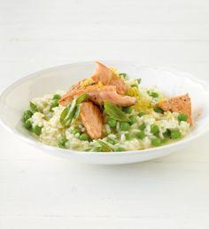 <3 Recipe: Erbsen-Risotto mit Lachs