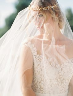 Everything about this bride is romantic: http://www.stylemepretty.com/colorado-weddings/denver/2014/11/25/elegant-and-ethereal-inspiration-shoot-at-highlands-ranch-mansion/   Photography: Sara Hasstedt - http://www.sarahasstedt.com/