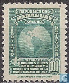 Stamps - Paraguay - Pan American Union 50 years 1940