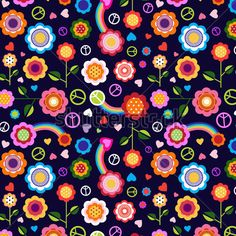 hippie-peace-floral-background.jpg (450×450)