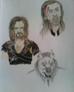 """46 Likes, 5 Comments - Adélka Farky Farkašová (@adelkafarkasova) on Instagram: """"#underworld #werewolf #lucian #lycan #drawing"""""""